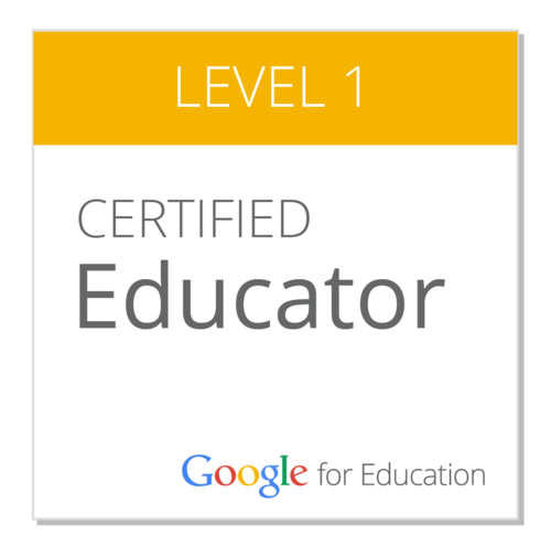 Google Educator Level 1 Badge
